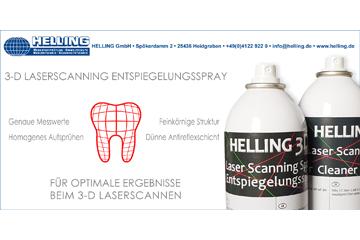 10 Jahre Helling 3D Laser Scanning Entspiegelungsspray