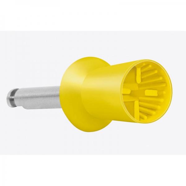 Prophylaxepolierer latexfrei 24 Stück montiert für Winkelstück gelb