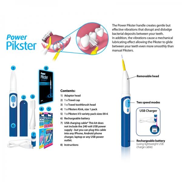 Power Piksters Ultraschall-Interdentalbürsten Set
