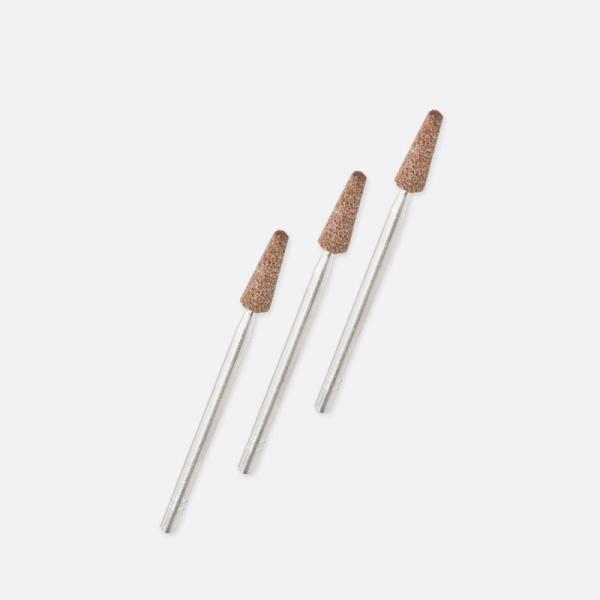 Montierte Schleifsteine konisch feine Körnung mittlere Härte Form F5, 25 Stück