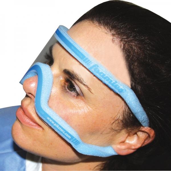 Augen- und Gesichtsschutzmaske foamies mit Schaumstoffrand blau, klar, mittel 50 Stück