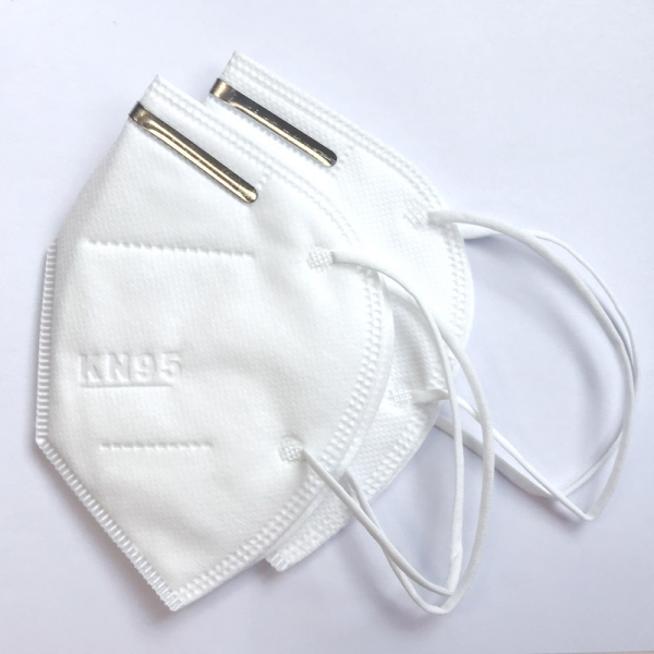 KN95 Mund-, Nasenschutzmasken mit Nasenbügel Packung mit 2 Stück