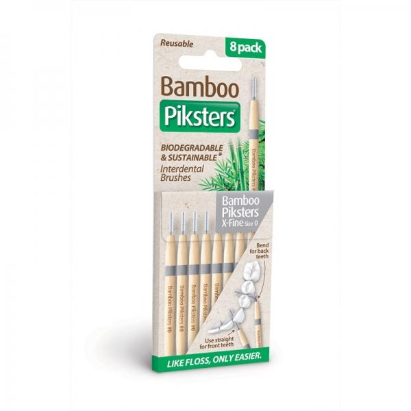 Interdentalbürstchen Größe 0 gerade Piksters Bamboo 8er Packung