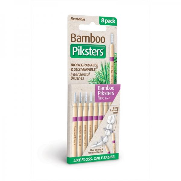 Interdentalbürstchen Größe 1 gerade Piksters Bamboo 8er Packung