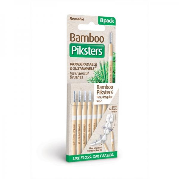 Interdentalbürstchen Größe 2 gerade Piksters Bamboo 8er Packung