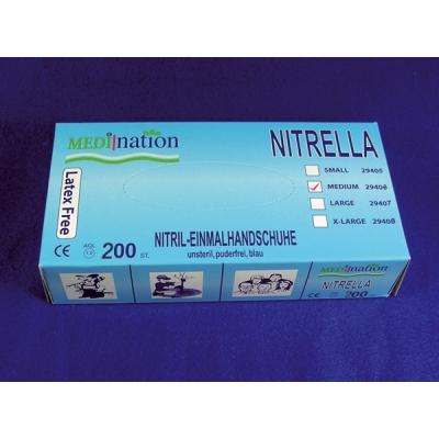NITRELLA 200 Nitril-Einmalhandschuhe mittel, 24906