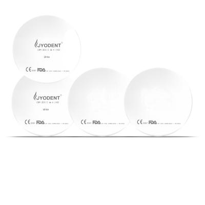 JYODENT Zirkonronden weiss uniaxial gepresst 98 mm mit 10 mm Schulter
