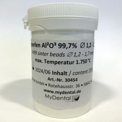 Aluminiumoxid AL99 250 g Sinterperlen 1,2 - 1,7 mm MyDental