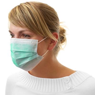 Dental Mundschutz Gesichtsmaske mit Nasenbügel und Ohrbändern grün