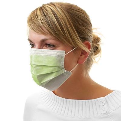 Dental Mundschutz Gesichtsmaske mit Nasenbügel und Ohrbändern limette