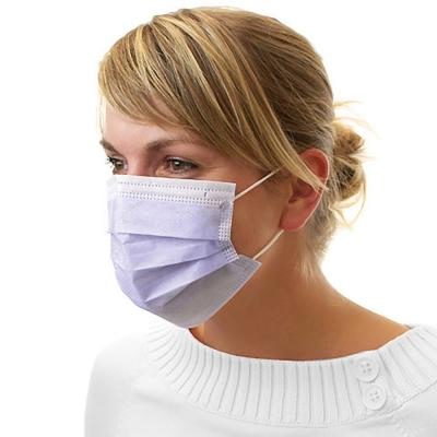 Dental Mundschutz Gesichtsmaske mit Nasenbügel und Ohrbändern lila